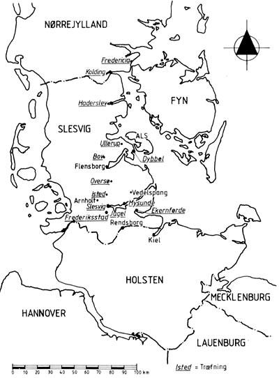 kort over flensborg